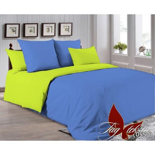 Поплиновое постельное белье полуторное TAG P-4037(0550)