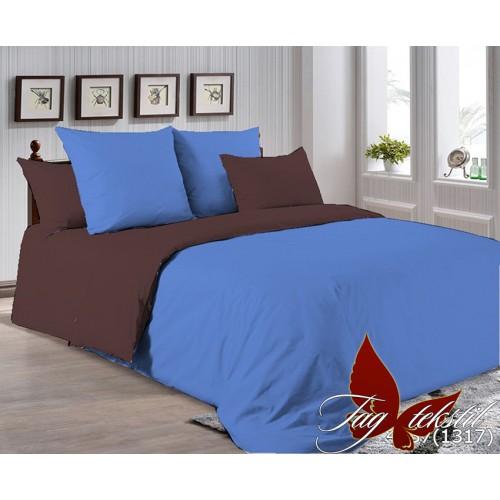 Поплиновое постельное белье полуторное TAG P-4037(1317)