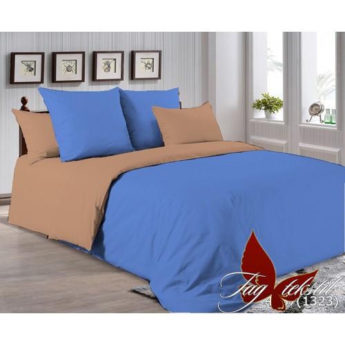 Поплиновое постельное белье полуторное TAG P-4037(1323)