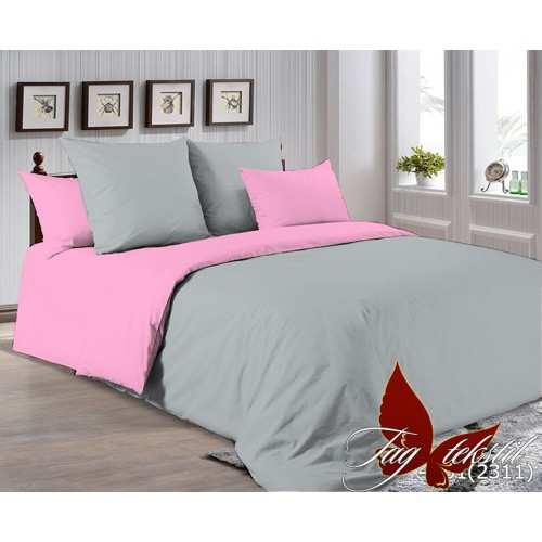 Поплиновое постельное белье полуторное TAG P-4101(2311)