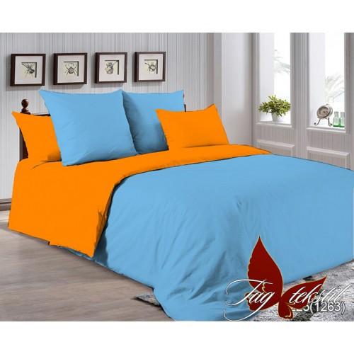 Поплиновое постельное белье полуторное TAG P-4225(1263)