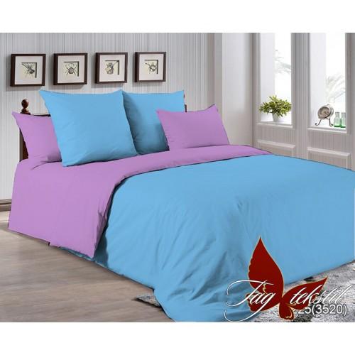 Поплиновое постельное белье полуторное TAG P-4225(3520)