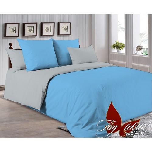 Поплиновое постельное белье полуторное TAG P-4225(4101)