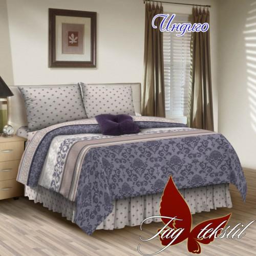 Комплект постельного белья поплин полуторное TAG Индиго