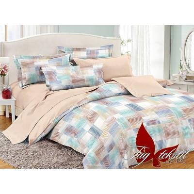 Комплект постельного белья поплин семейный TAG PC057