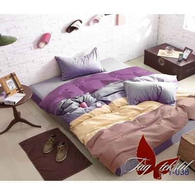 Комплект постельного белья поплин евро TAG Colormix APT 038