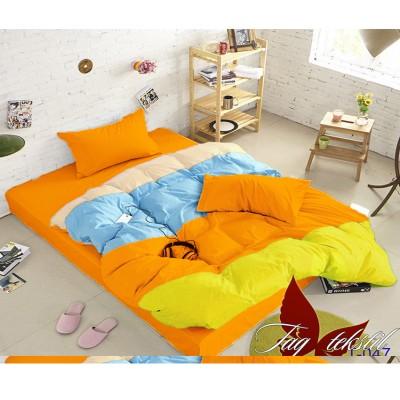 Комплект постельного белья поплин евро TAG Colormix APT 047