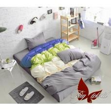 Комплект постельного белья поплин евро TAG Colormix APT001
