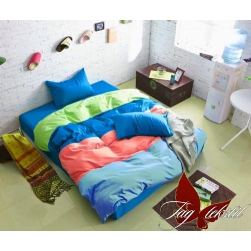 Комплект постельного белья поплин полуторное TAG Colormix APT002