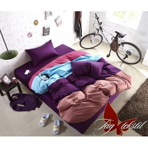 Комплект постельного белья поплин полуторное TAG Colormix APT003