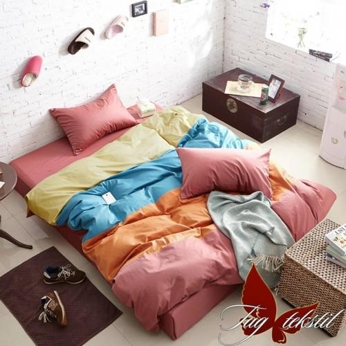 Комплект постельного белья поплин полуторное TAG Colormix APT05
