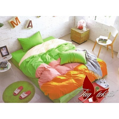 Комплект постельного белья поплин полуторное TAG Colormix APT009