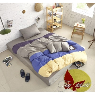 Комплект постельного белья поплин полуторное TAG Colormix APT011