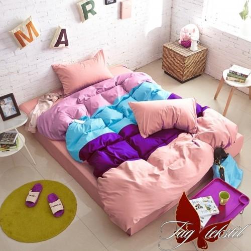 Комплект постельного белья поплин полуторное TAG Colormix APT012