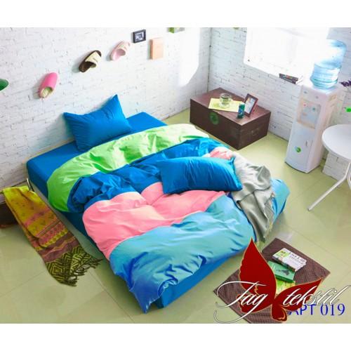 Комплект постельного белья поплин полуторное TAG Colormix APT019