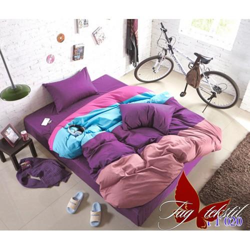 Комплект постельного белья поплин полуторное TAG Colormix APT020