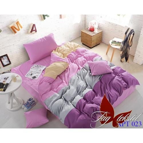 Поплиновое постельное белье полуторное TAG Colormix APT-023