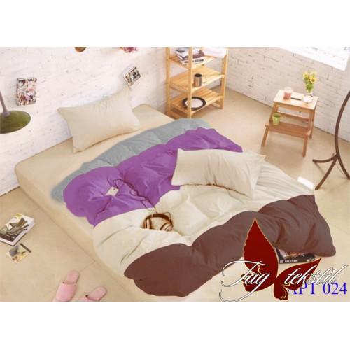 Поплиновое постельное белье полуторное TAG Colormix APT-024