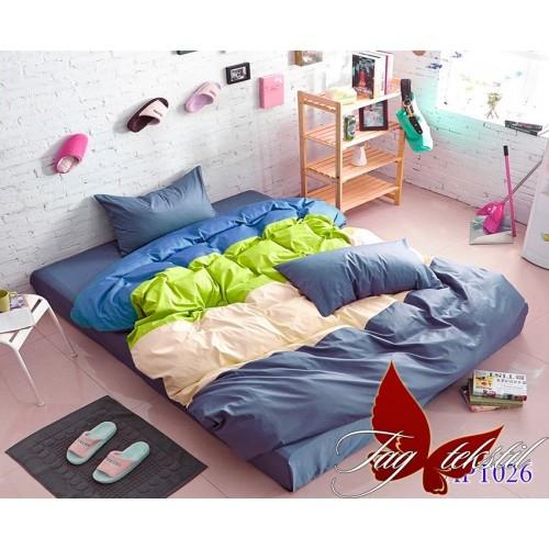 Поплиновое постельное белье полуторное TAG Colormix APT-026