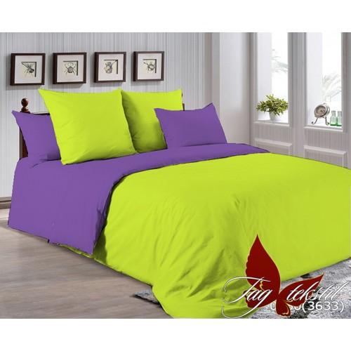 Поплиновое постельное белье полуторное TAG P-0550(3633)