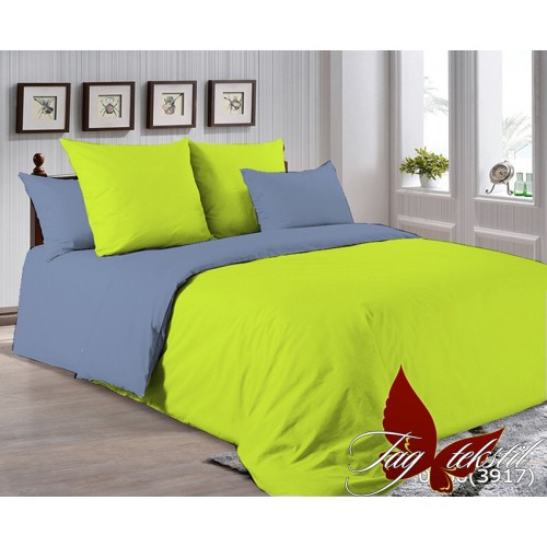 Поплиновое постельное белье полуторное TAG P-0550(3917)