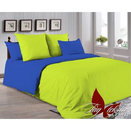 Поплиновое постельное белье полуторное TAG P-0550(3949)