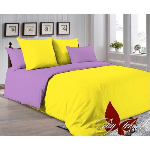 Поплиновое постельное белье полуторное TAG P-0643(3520)