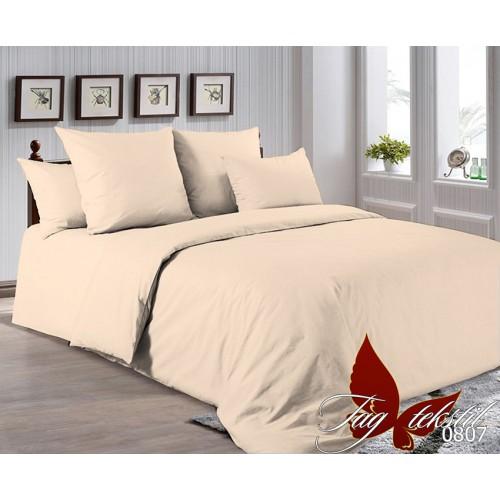 Поплиновое постельное белье полуторное TAG P-0807