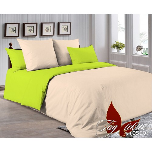 Поплиновое постельное белье полуторное TAG P-0807(0550)