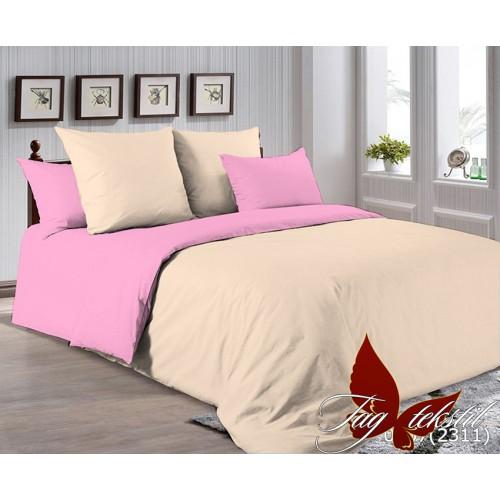 Поплиновое постельное белье полуторное TAG P-0807(2311)
