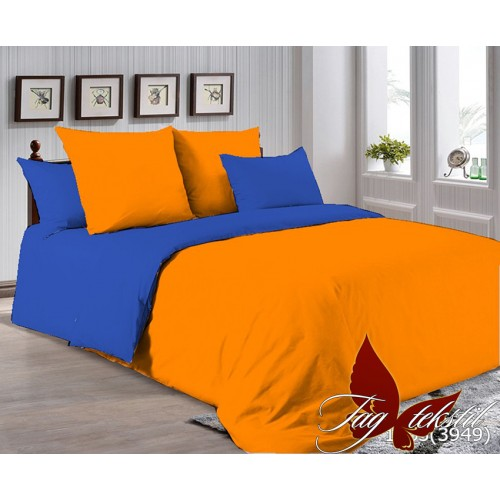 Поплиновое постельное белье полуторное TAG P-1263(3949)