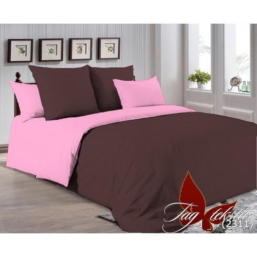 Поплиновое постельное белье полуторное TAG P-1317(2311)