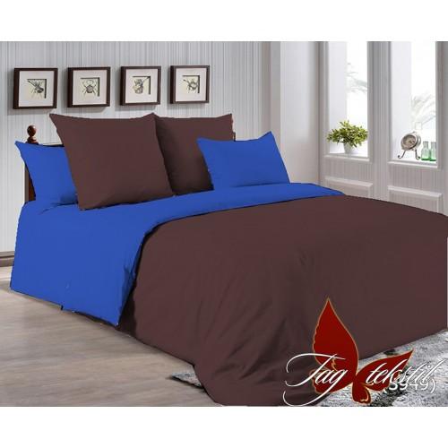 Поплиновое постельное белье полуторное TAG P-1317(3949)