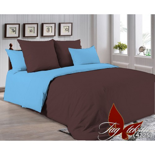 Поплиновое постельное белье полуторное TAG P-1317(4225)