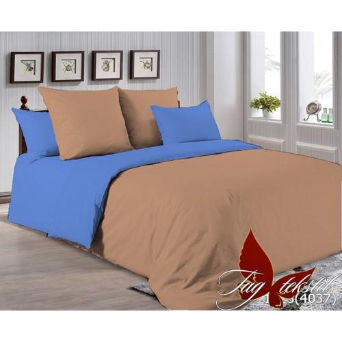 Поплиновое постельное белье полуторное TAG P-1323(4037)