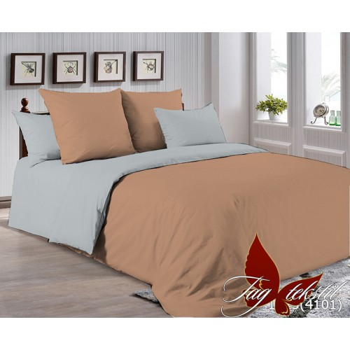 Поплиновое постельное белье полуторное TAG P-1323(4101)