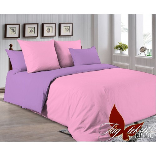 Поплиновое постельное белье полуторное TAG P-2311(3520)