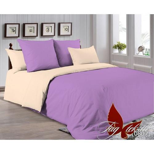 Поплиновое постельное белье полуторное TAG P-3520(0807)