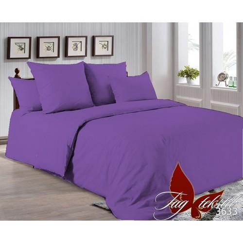 Поплиновое постельное белье полуторное TAG P-3633
