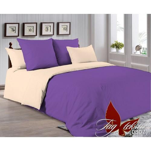 Поплиновое постельное белье полуторное TAG P-3633(0807)