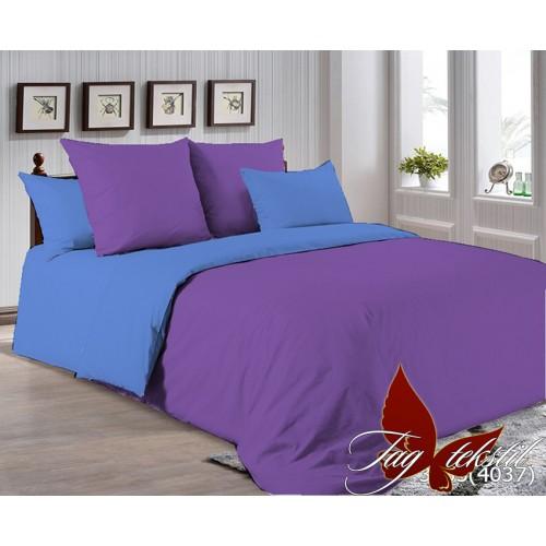 Поплиновое постельное белье полуторное TAG P-3633(4037)