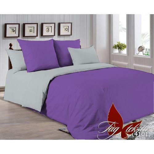 Поплиновое постельное белье полуторное TAG P-3633(4101)