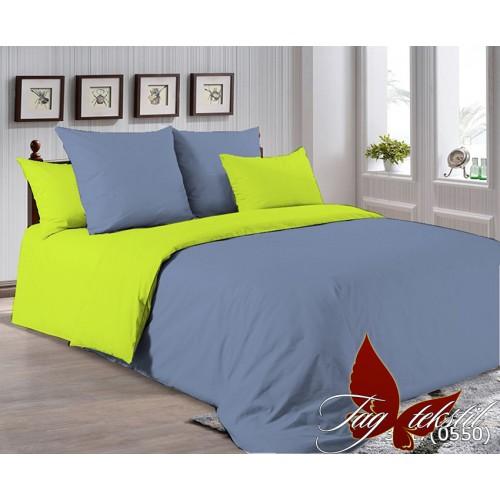 Поплиновое постельное белье полуторное TAG P-3917(0550)