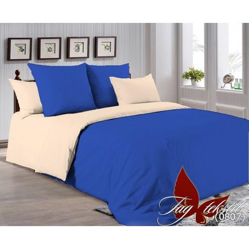 Поплиновое постельное белье полуторное TAG P-3949(0807)