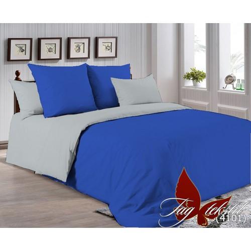 Поплиновое постельное белье полуторное TAG P-3949(4101)