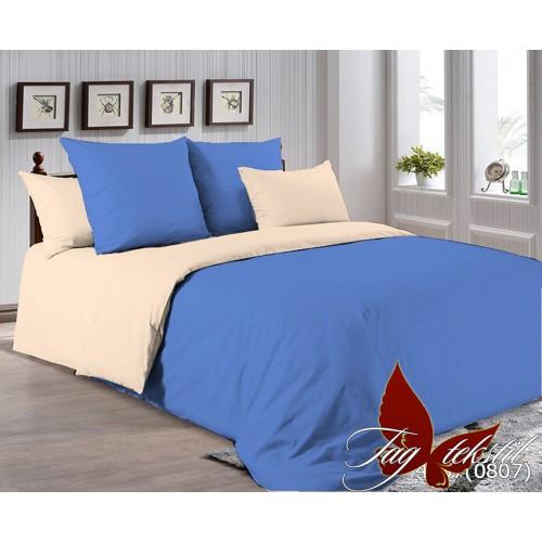 Поплиновое постельное белье полуторное TAG P-4037(0807)