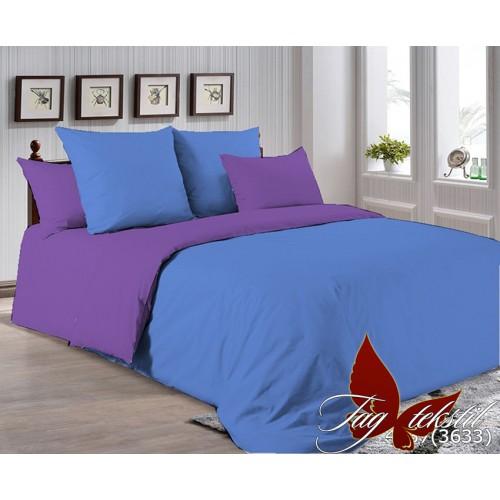 Поплиновое постельное белье полуторное TAG P-4037(3633)