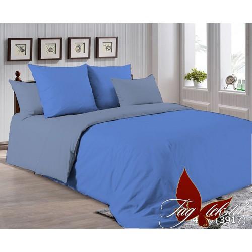 Поплиновое постельное белье полуторное TAG P-4037(3917)
