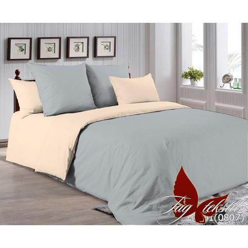 Поплиновое постельное белье полуторное TAG P-4101(0807)