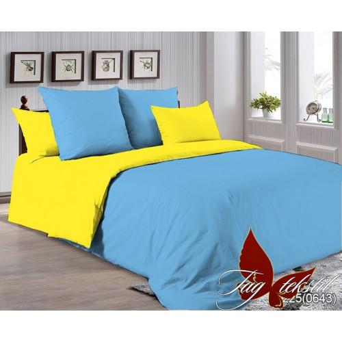 Поплиновое постельное белье полуторное TAG P-4225(0643)